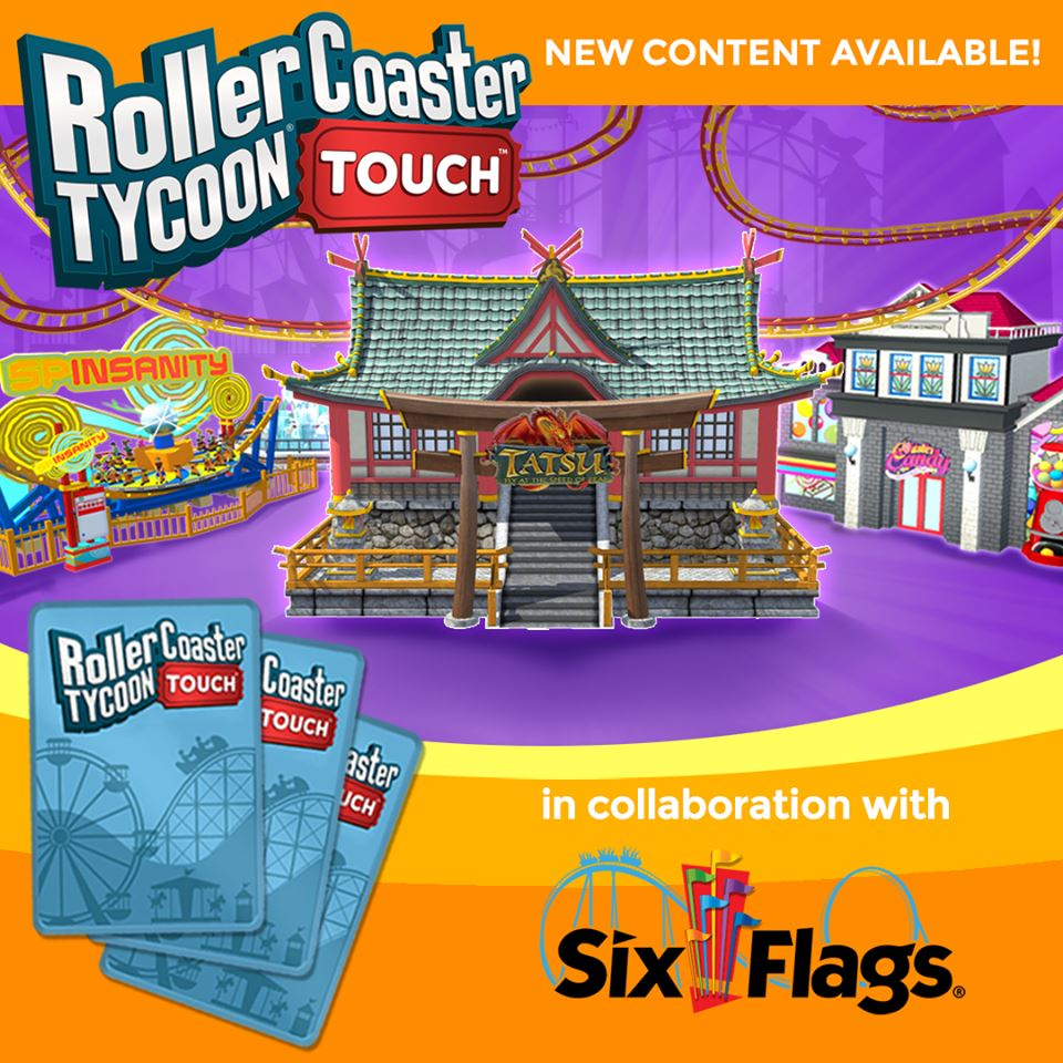 RCT Touch - Six Flags Update! - RollerCoaster Tycoon - The